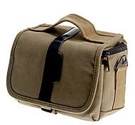 NEW-T-01 One-shoulder Canvas Delicate DSLR Bag(Blue,Grey,Brown)21*15*16cm