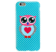 Mr Owl Pattern Smooth Surface TPU Soft Back Cover for iPhone 6/6S