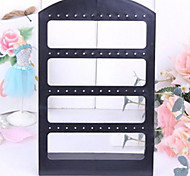 Classic Fourty Eight Holes Ear Stud Stand Black Acrylic Jewelry Displays(1 Pc)