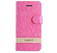 vogue Kontrastfarbe in 8 verschiedenen Farben generischen PU-Leder Ganzkörper-Fall mit Kartensteckplatz für iphone 5c (verschiedene Farben)