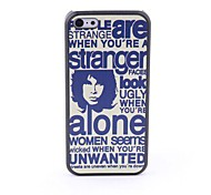 Newspaper Style Protective Back Case for iPhone 5C