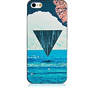 Spray Triangle Pattern Black Frame Back Case for iPhone 4/4S