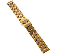 24mm High Quality Black/Gold Precise Stainless Steel Watchband