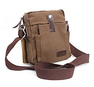 al aire libre de los hombres de color marrón ocio de la lona bolsas-inclinada-hombro único