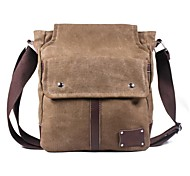 Men's Outdoors Fashional Brown Canvas Business Single-Inclined-Shoulder Bags