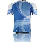 blu-ray de poliéster transpirable de manga corta de ciclo Jersey + -blue blanco hombres xintown 's
