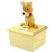teste padrão animal brinquedos de madeira caixa de música giratórias (padrão aleatório)