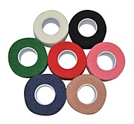 Sports Outdoor 2.5cm x 4.5m Self Adhering Cotton Elastic Cohesive Bandage