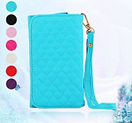 Elonbo Fashion Diamond Grain Leather Wallet Full Body Cover for iPhone 6 Plus(Assorted Color)