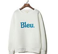 Men's Round Neck Simple Casual Letter Print Sweatshirt