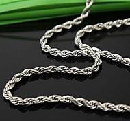Z&X®  Men's Fashion  Personality Twist Titanium Steel Necklaces