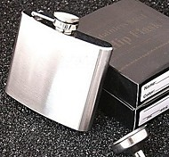 boccetta portatile dell'anca dell'acciaio inossidabile degli uomini (5 oz, con imbuto)