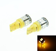 t10 149 168 W5W amarillas 5W 11LED 5730smd 560-590nm 12-16V luces laterales
