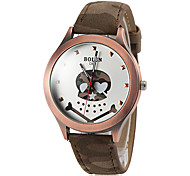 Men's Camouflage Style Cute Skull Pattern PU Band Quartz Wrist Watch (Assorted Colors)