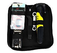 INBIKE Muti-functional Cycling Repair Tool Kit Including Tire Repair Tool Yellow Pump and Tyre Lever