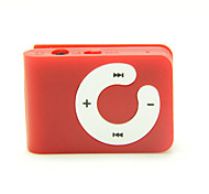 Mini Clip Plug-in Micro SD Card TF Card Reader MP3 Music Player - Dull-red