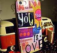 toophone® Joyland флэш-порошок ТПУ '' все, что вам нужно, это любовь '' мягкая задняя крышка для iPhone 5 / 5S
