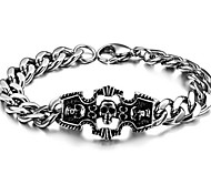 Z&X®  Men's Fashion Personality Skull Titanium Steel Bracelet