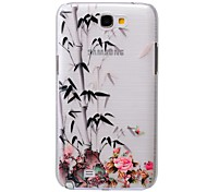 Chinese Bamboo Pattern PC Brushed Hard Case for Samsung Galaxy Note 2 N7100