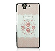 Pink Rose Leather Vein Pattern Hard Case for Sony Xperia Z/L36h