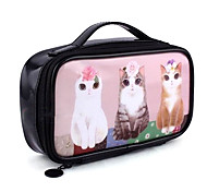Lovely Cosmetic Bag with Cat Patterns