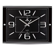 "POWER™ 13""H Brief Style Rectangle Shape Super Mute Wall Clock"