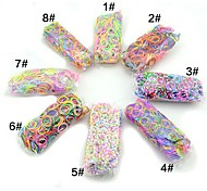 Mixed Latex Silicone Rubber Bands Multicolors Fluorescence Rainbow Color Loom Style with 600pcs Bands, 24 S-clips