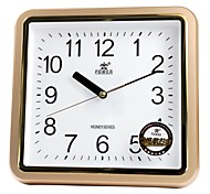 "POWER™ 11""H Brief Style Square Shape Two-tone Border Super Mute Wall Clock"
