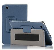 7 '' padrão de lichia caso de corpo inteiro com couro pu para Lenovo S5000 capa tablet pc