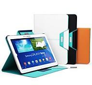 el rock inversión magnética caso de cuero del soporte del sueño auto / vigilia para Samsung Galaxy Note 10.1 (2014 edición) (colores
