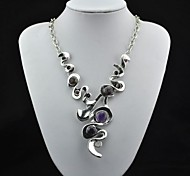 Purple Statement Necklaces Alloy Party / Daily Jewelry