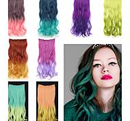 20-дюймовый длинные волнистые синтетические клип в наращивание волос с 5 клипов - 8 цветов
