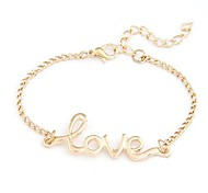 Fashion Metal Love Letter Bracelet(More Colors)