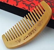 Natual 11x5cm Sandalwood Mixed Peach Wooden Comb
