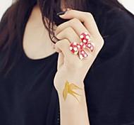 2pcs tragan oro pegatinas brillo tatuaje tatuajes temporales