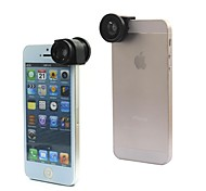 3 In One Phone Lens Macro Lens Wide Lens Fisheye Lens Quick-Change Mini Canera for iPhone 5/5S