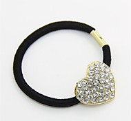 Fashion Crystal Heart Hair Ties