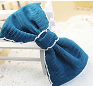 coréen des accessoires pour cheveux arc clip côté coiffe en épingle à cheveux pince à bec de canard tissu de qualité couleur aléatoire