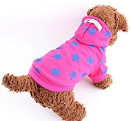 Dog Hoodie Blue / Yellow / Rose Winter Stars