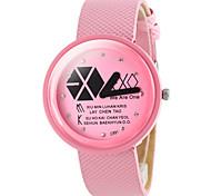 Women's Fashion Geometric Pattern PU Band Quartz Wrist Watch (Assorted Colors) Cool Watches Unique Watches