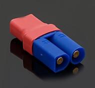 No Wires Connectors/Plug Female T-Plug to EC5 Male 5.0mm Banana Plug and Female Plastic (10PCS/Bag)