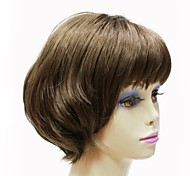 Capless Synthetic Grey Short Straight Women Wig