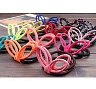 Fluorescent Color Candy Color Chiffon Rabbit Ears Ring Random Delivery