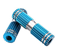 MOON 1 Pair BMX Bike Aluminum Alloy Rear Front Axle Blue Solid Foot Pegs