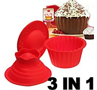 Big Top Cupcake Pan Giant Silicon Mold Bake 3 Set