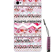 Image Stitching Pattern Hard Case & Touch Pen for iPhone 5/5S