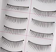 10 pairs Makeup Natural False Eye Lashes Black Thick Extension Long EyeLashes