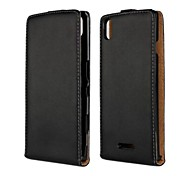 Open Up and Down PU Leather Full Body Case for Sony Xperia T3(M50W)