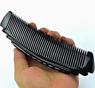 longueur de haute qualité autour de 17cm corne noire peigne massage peigne