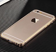 Para Funda iPhone 6 / Funda iPhone 6 Plus Ultrafina Funda Acolchada Funda Un Color Dura Metal iPhone 6s Plus/6 Plus / iPhone 6s/6